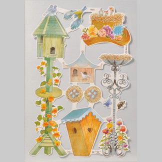 Birds, Birdhouses and Nests Scrap Sheet