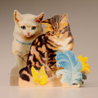 3D Themed Everyday Card - Cats, Butterfly and Feathers