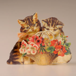 3D Themed Everyday Card - Cats and Flowers
