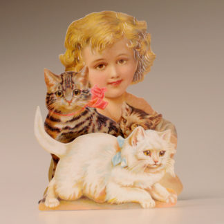 3D Themed Everyday Card - Girl and Cats