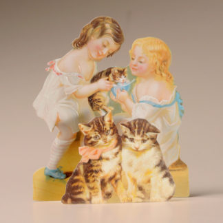 3D Themed Everyday Card - Girls and Cats