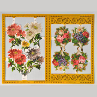 Wild Flowers Golden Scrap Sheet