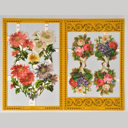 Wild Flowers Golden Scrap Sheet