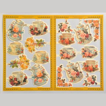 Afternoon Tea Golden Scrap Sheet