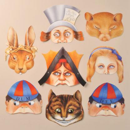 Alice in Wonderland Party Masks