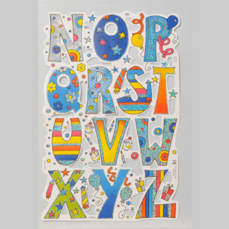 Alphabet (N-Z) Foiled Scrap Sheet