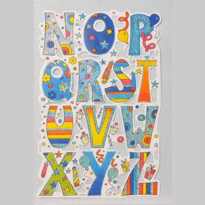 Alphabet (N-Z) Foiled Scrap Sheet