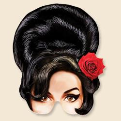 Amy Winehouse Party Mask