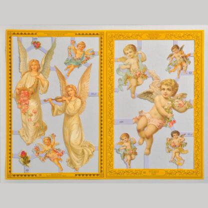 Angels and Cherubs Golden Scrap Sheet 1