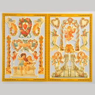 Angels and Cherubs Golden Scrap Sheet 2
