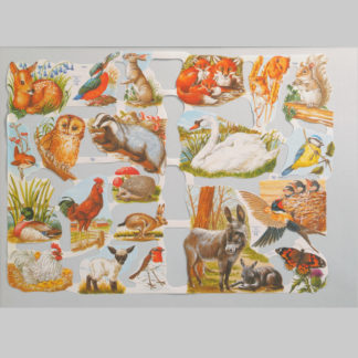 Animals and Birds Scrap Sheet 1