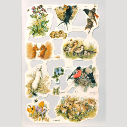 Animals and Birds Scrap Sheet 2