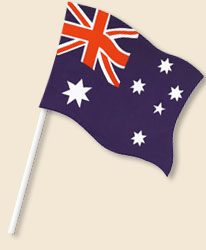 Australia Handwaving Flags