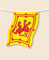 Banner of Scotland Bunting - small
