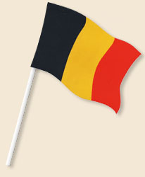 Belgium Handwaving Flags