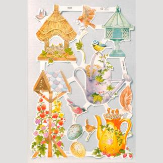 Birds, Birdhouses and Eggs Scrap Sheet