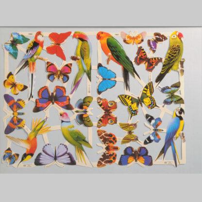 Birds and Butterflies Scrap Sheet
