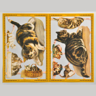 Cats Golden Scrap Sheet