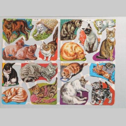 Cats Scrap Sheet 1