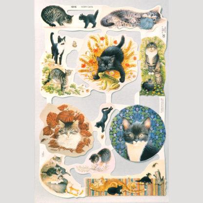 Cats Scrap Sheet 3