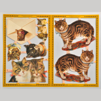 Cats and Kittens Golden Scrap Sheet 3