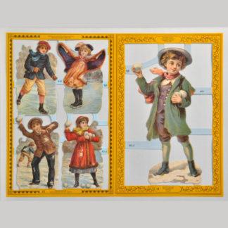 Children Golden Scrap Sheet 2