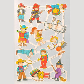 Children's Characters Scrap Sheet