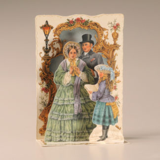 Christmas Cascade Card - Carol Singing