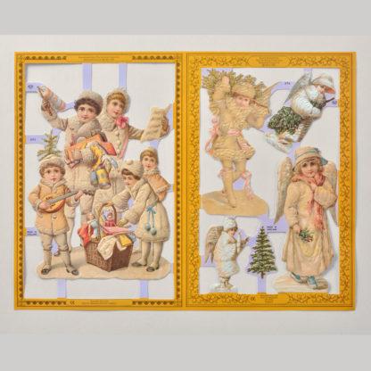 Christmas Golden Scrap Sheet 1