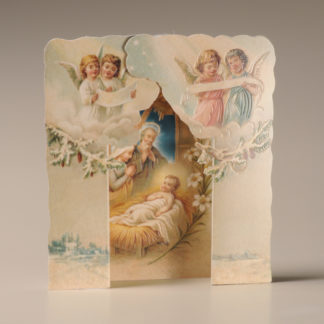 Christmas Nativity Card - Snow and Angels