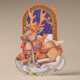 Christmas Rocker Card - Reindeer