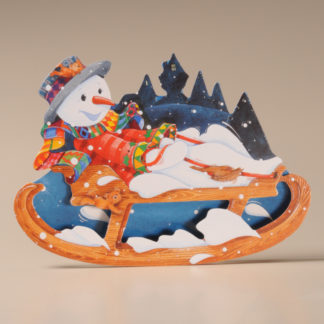 Christmas Rocker Card - Snowman and Sleigh