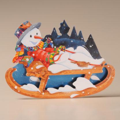 Christmas Rocker Card - Snowman and Sleigh