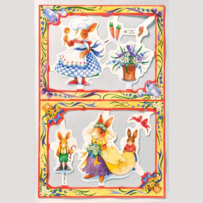 Comic Rabbits Scrap Sheet 1