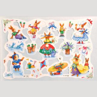 Comic Rabbits Scrap Sheet 2