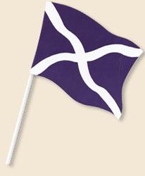 Cross of St Andrew Handwaving Flags