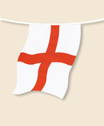 Cross of St George Bunting - small