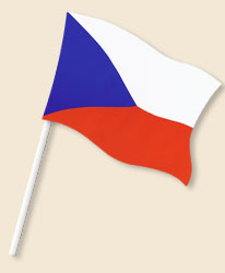 Czech Republic Handwaving Flags
