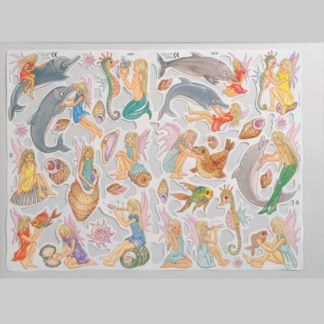 Dolphins, Sea-fairies and Shells Scrap Sheet
