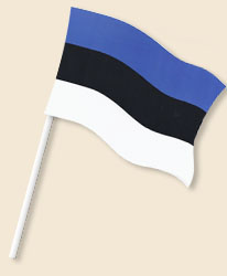 Estonia Handwaving Flags