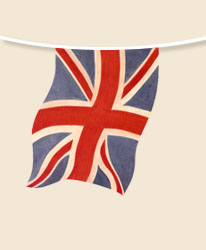 Faded Union Jack Bunting - large