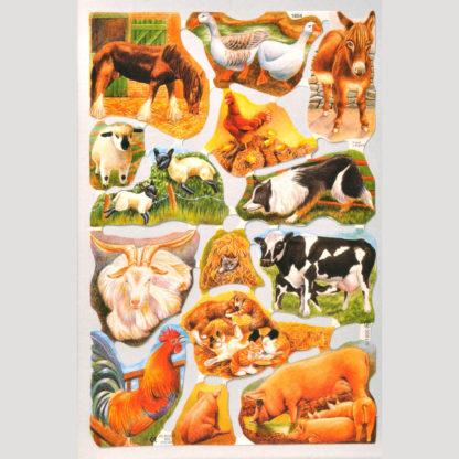 Farm Animals Scrap Sheet