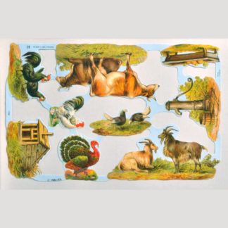 Farm Tools and Animals Scrap Sheet