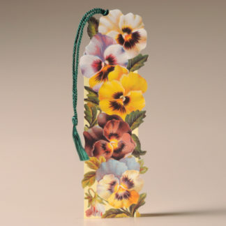 Floral Bookmark Card - Pansies