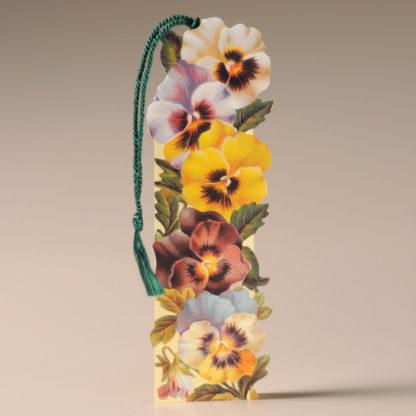 Floral Bookmark Card - Pansies