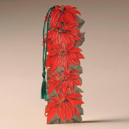 Floral Bookmark Card - Poinsettias