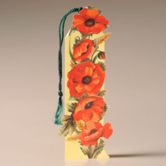 Floral Bookmark Card - Poppies