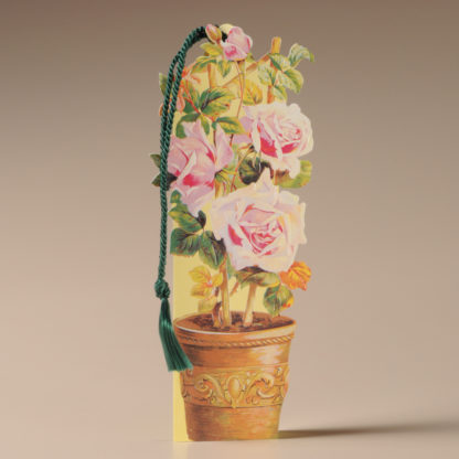 Floral Bookmark Card - Roses in a Pot