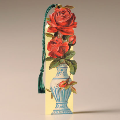 Floral Bookmark Card - Roses in an Urn
