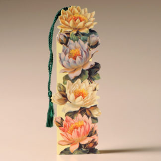 Floral Bookmark Card - Water Lilies